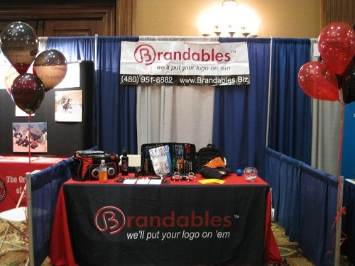 check out our Brandables booth at Trade Shows in Glendale