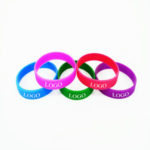 Screen printed silicone bracelet