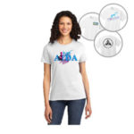 Ladies White t-shirt branded