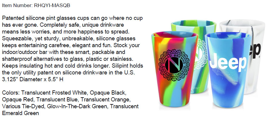 16 oz Silicone Pint Glass