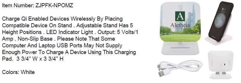 Wireless Charging Pad Phone Stand